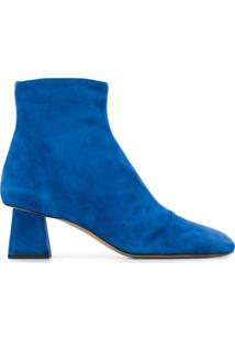 Rayne Ankle Boot Com Salto Esculpido - Azul