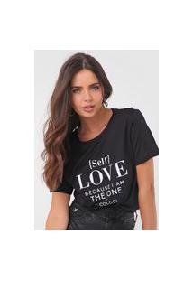 Camiseta Colcci Love Preta
