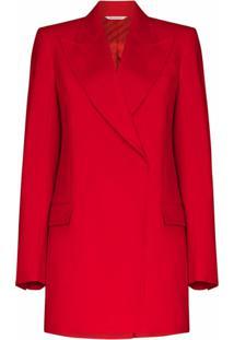 Givenchy Blazer Com Abotoamento Duplo De Lã - Vermelho