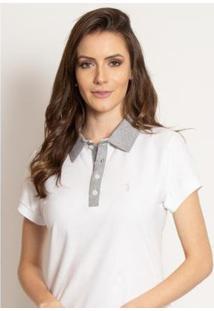 Camisa Polo Aleatory Lisa Way Feminina - Feminino