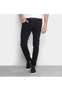 Calça Jeans Calvin Klein Skinny Masculina - Masculino-Marinho