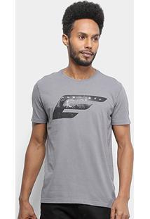 Camiseta Ellus Asa Rock Classic Masculina - Masculino-Cinza