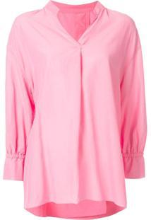 Kuho Blusa Decote V - X Pink