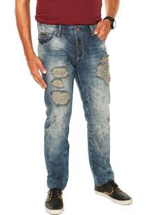Calça Jeans Forum Paul Dirty Azul