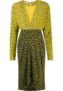 Philosophy Di Lorenzo Serafini Vestido Midi Com Estampa Floral - Amarelo