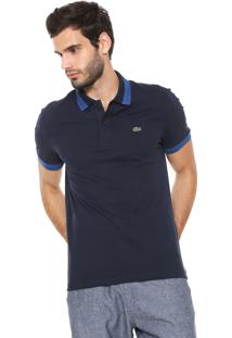 Camisa Polo Lacoste Slim Fit Azul