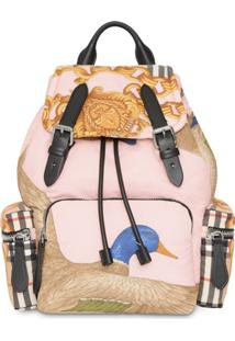Burberry Echarpe The Medium Rucksack In Archive - Rosa