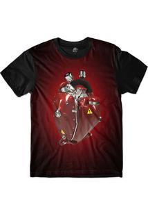 Camiseta Bsc Coração De Máquina Motor Vermelho Sublimada Vermelho