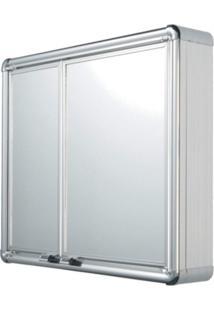 Espelheira Para Banheiro 2 Portas 54Cmx45Cm Astra Cromado