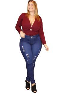 Calça Jeans Credencial Plus Size Skinny Francimara Azul - Kanui