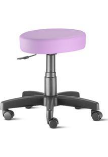 Cadeira Mocho Lilás Plus Giratória Sem Encosto
