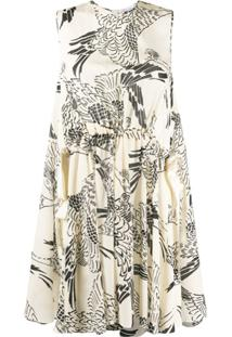 Redvalentino Phoenix Drawstring Waist Dress - Neutro