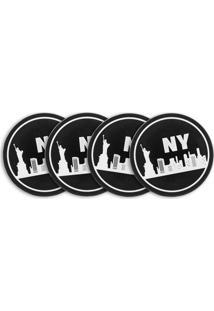 Jogo Americano, Porta Copos 4 Peças E Descanso De Mesa - New York