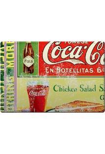 Kit Jogo Americano E Porta Copos Coca Cola Boteco Vintage - 4 Peças