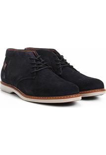 Sapato Social West Coast Dubai Amarração Masculino - Masculino-Marinho