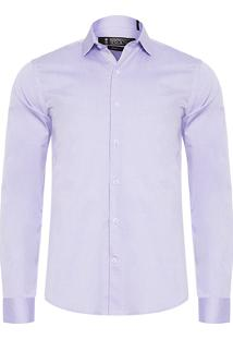 Camisa Masculina Light Twill - Roxo