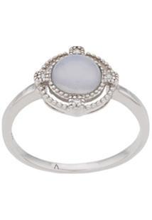 V Jewellery Anel Chalcedony - Prateado
