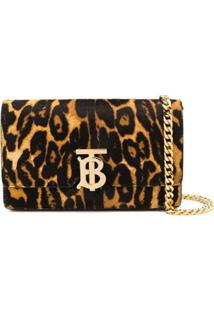 Burberry Leopard Print Shoulder Bag - Preto