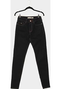 Calça Jeans Skinny Lez A Lez Cintura Média Feminina - Feminino-Azul
