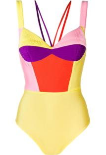 Fausto Puglisi Body Color Block - Amarelo