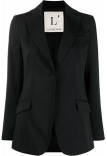 L'Autre Chose Blazer Com Abotoamento Simples - Preto