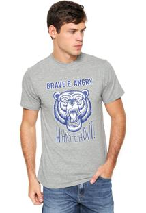 Camiseta Fiveblu Manga Curta Whatch Out Cinza
