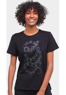 Camiseta Forum Snake Feminina - Feminino-Preto