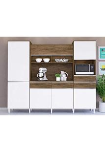 e02428e8a4b ... Cozinha Compacta Lara 6 Pt 3 Gv Dakota E Branco