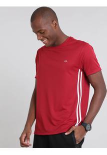 Camiseta Masculina Esportiva Ace Manga Curta Gola Careca Vermelha
