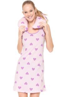 Camisola Malwee Liberta Curta Coração Rosa