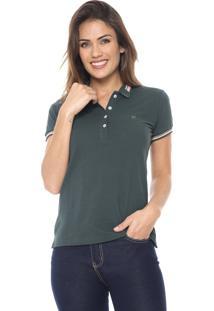 Camisa Polo Polo Wear Listrada Verde/Rosa