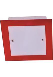 Plafon Attena Flex Quadrado Grande 38Cm – Vermelho