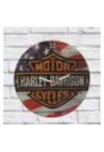 Relógio Parede Sala Decorativo Harley Davidson Pulso 30X30X2Cm