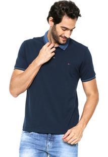Camisa Polo Aramis Manga Curta Listras Azul-Marinho