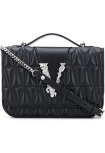 Versace Virtus Quilted Shoulder Bag - Preto