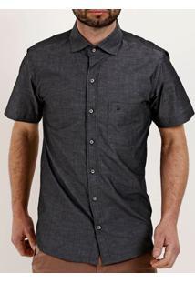 Camisa Manga Curta Masculina Chumbo