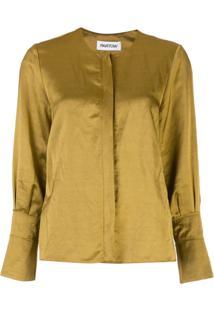 Partow Blusa Com Fechamento Oculto - Dourado