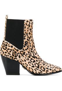 Buffalo Ferry Leopard-Print Ankle Boots - Neutro