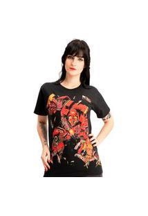 Camiseta Plus Size Homem De Ferro Buster Super Heroes Preto