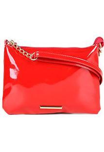 Bolsa Via Uno Mini Bag Feminina - Feminino-Vermelho