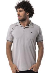 Camisa Polo Long Island Dgt - Masculino-Cinza