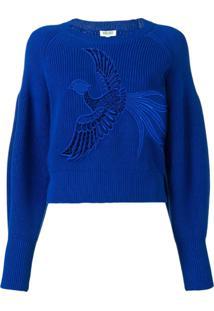 Kenzo Bird Embroidered Sweater - Azul