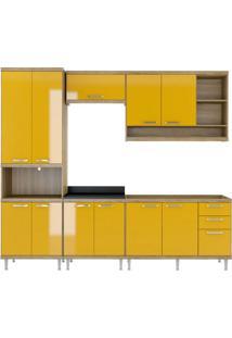 Cozinha Compacta La Plata 11 Pt 3 Gv Argila E Amarelo
