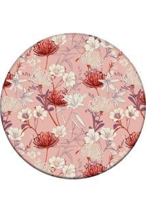 Tapete Love Decor Redondo Wevans Beautiful Flower Rosa 84Cm