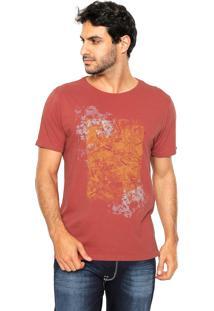 Camiseta Aramis Regular Fit Folhagem Laranja