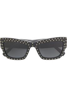 Versace Eyewear Studded Sunglasses - Preto