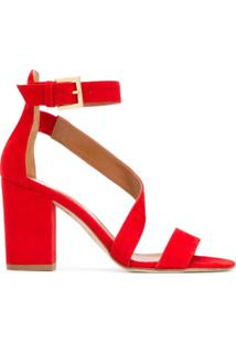 Paris Texas Sandália Com Salto - Vermelho