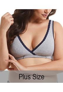 Sutiã Gestante Mesclado Em Tecido Duplo Mondress Maternity (8085E) Plus Size