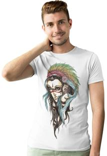 Camiseta Artseries India Cocar Branco