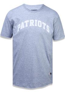 Camiseta New Era Fraldada New England Patriots Mescla Cinza